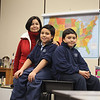 Record-Eagle/Jan-Michael Stump Adriana Rojas and her husband have spent a year in Traverse City on sabbatical from Bogata, Columbia, so that their sons Juan, 11, left, and Santiago, 10, could learn English while attending Grand Traverse Academy.