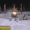 Record-Eagle/Jan-Michael Stump<br /> Jennifer Pare flies through the air during a Pro Am Women race at the Turtle Creek US 27 Motorsports Snocross Friday night at the Turtle Creek Casino in Williamsburg.