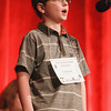 Record-Eagle/Keith King<br /> Garrett Coan spells a word Sunday during the 2014 Grand Traverse Regional Spelling Bee at the State Theatre in Traverse City.