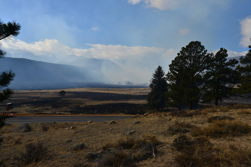 Large areas of Moraine Park were blackened overnight as strong winds caused the Fern Lake Fire to expand toward the east. Prompting the evacuation of the some areas of Estes Park, including the YMCA. This was the perspective Saturday morning from the Moraine Park Visitor Center.