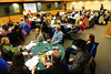 Walt Hester | Trail Gazette<br /> Members of the Rooftop Rodeo Committee enjoy a potluck dinner at the YMCA of the Rockies on Thursday. The event gave the committee a chance to gather in a social setting while still performing the committees work headed ino the new year and toward the next rodeo.
