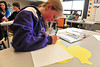 Kathryn Carnell, 14, works on her duck in eighth-grade art class on Wednesday. The class is making ducks to hang in the Estes Valley Public Library throughout  April to promote the 25th Duck Race.