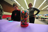 Gunner Friesen, 10 and sister Emma, 14, guess the number of jelly beans in a jar at Saturday's event. The Quota Club's Breakfast with the Easter Bunny had games and activities above and beyond the traditional egg hunt.