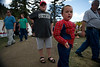 Walt Hester | Trail Gazette Tyler Mellen, 5, of Loveland sports his superhero muscles at the Elk Fest on Sunday. Food, games, contests and information make for a family friendly event, something for all ages.