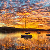 Sunset on Tomales Bay Panorama