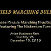 2013-12-15 WHS MB Rose Parade Practice @ Avion