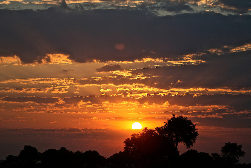 African Sunset over the Okavango Delta, Botswana
