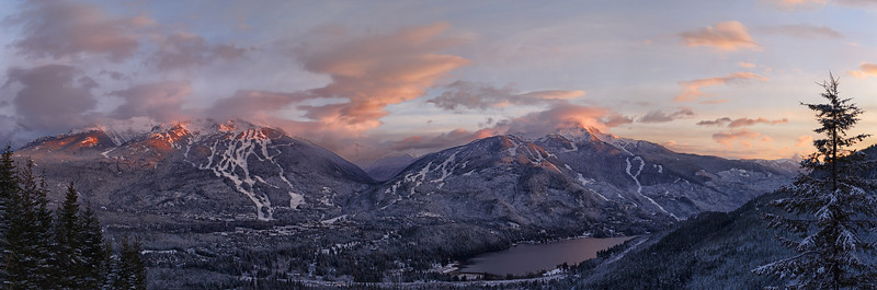 Whistler Sunset Panorama