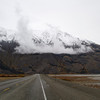 Going around Lake Kluane on the ALCAN