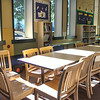 Tables for reading and studying on inside WMC.  Taken on July 4, 2014 by James Cadden.