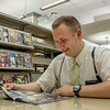 An EPL Customer enjoys a nice comic book.<br /> <br /> Taken on July 4, 2014 by James Cadden.