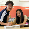 Teens study in a quiet corner of WMC.<br /> <br /> Taken on July 4, 2014 by James Cadden.