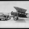 Plane and truck at Municipal Airport [Los Angeles International Airport], Los Angeles, CA, 1931