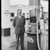 Mr. Crary at Pan Am service station, Southern California, 1925