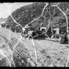 Road construction on Angeles Crest Road, Southern California, 1935