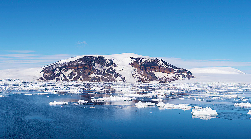 Brown Bluff, Antarctica, a tuya located at the northern tip of the Antarctic Peninsula.
