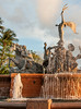 Puerto Rico 2013 - Old San Juan - Raices Fountain at Sunset