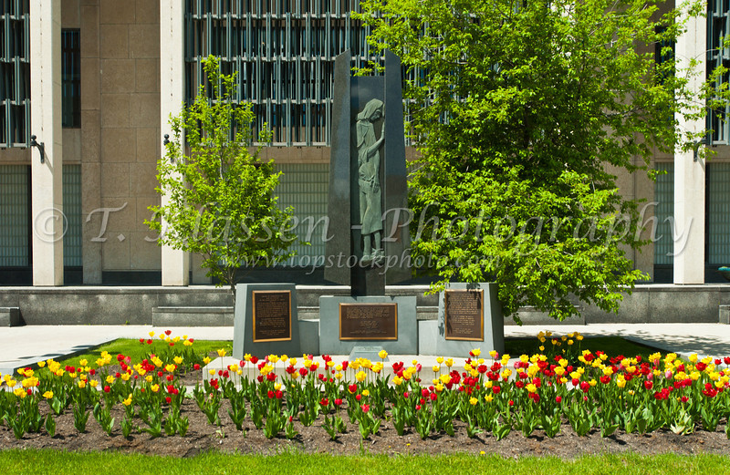 A Ulrainian genocide memorial at City Hall in Winnipeg, Manitoba, Canada.