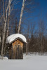 Outhouse Buried in Snow, Bayfield County, Wisconsin