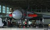 Hangar doors open by 0815 and XH558 awaits the tug for a tow outside.<br /> By Correne Calow.