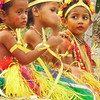 Three little girl dancers