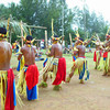 Men's bamboo dance, Yap Day 2014, Tomil