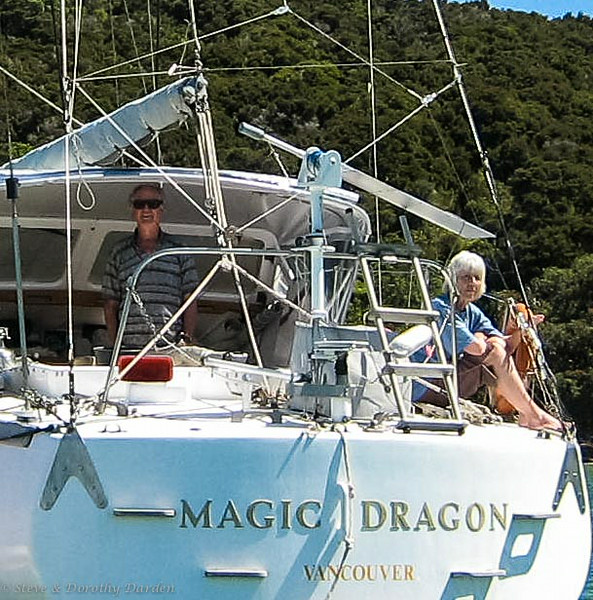 Jane and Shelly aboard MAGIC DRAGON