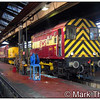 08879 is seen inside the servicing shed at Old Oak Common TMD on 28th January 2006. This shunter is still in service at the time of writing (January 2014) and is in use in the Oxford area.