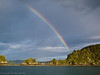 Rainbow over Goat Island near Paihia.
