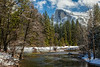 """Half Dome and Merced River in Winter"""