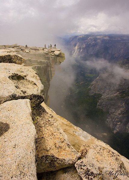 """""""In the Clouds""""  On the Summit of Half Dome, June, 2009.  Copyright, ©2009  James McGrew<br /> Limited Edition fine art prints available."""