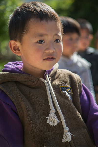 Shaping, China: kindergarten students during an outside exercise period