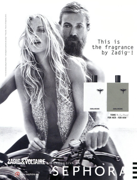 ZADIG & VOLTAIRE Tome 1 La Pureté for Her - for Him 2012 Spain (Sephora stores) 'This is the fragrance by Zadig!'