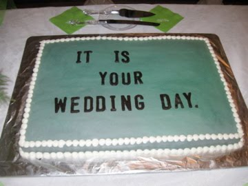 The Office wedding cake, It Is Your Wedding Day