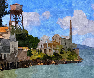 Alcatraz Tower. San Francisco, California.