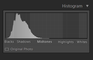 Histogram in Photography - Underexposed Capture