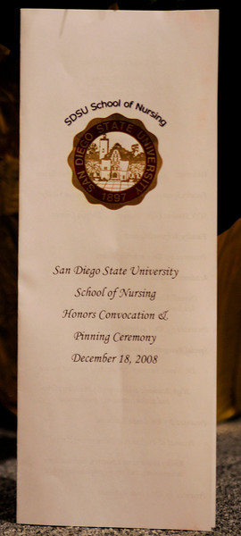 SDSU Nursing Class of Fall 2008 Pinning Ceremony