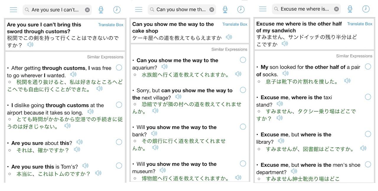 Using Japanese Translator Offline.