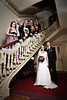 Portrait of a wedding party on the stair case at the Woodruff-Fontaine house in downtown Memphis, TN.