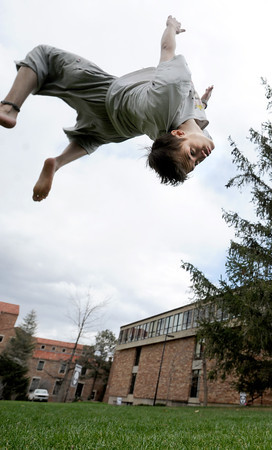 Tricking at Norlin Quad