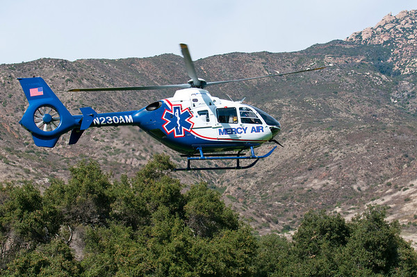 Mercy Air Transports Motor Cycle Crash Victim