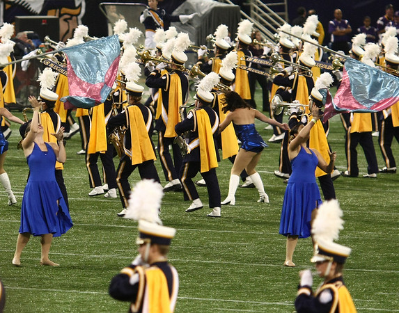 Blue & Gold Band peform at Halftime of the Vikings v Miami game (Sept 19, 2010
