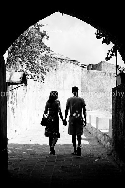 Romantic couple in Chania Crete