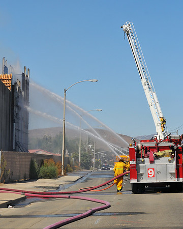 On Scene San Diego | Cuyamacha at Prospect Freeway Construction Fire | East County News