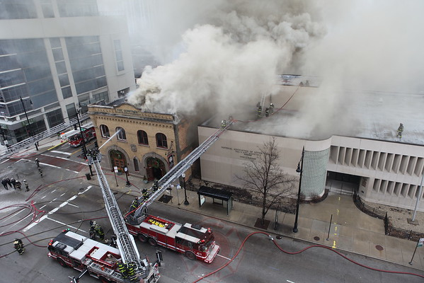 "3-11 Alarm Fire 1401 S. Michigan ""Firehouse Restaurant"" December 10, 2014"