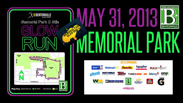 Bentonville Running Series Glow Run Video