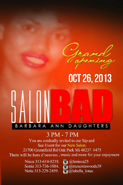 Salon Bad Grand Opening
