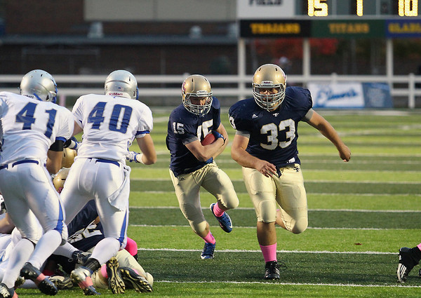 Football: St. Francis vs Nouvel, Oct. 5, 2012