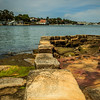 Bedlam Point, Sydney, Australia<br /> Stone wall from the Bedlam Point Ferry, dating to 1834.