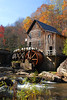 The iconic grist mill at Babcock State Park.<br /> N37 58.78' / W080 56.79ˈ